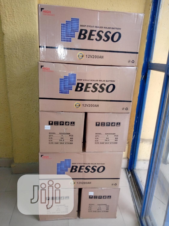 12V 200AH Besso Solar Battery