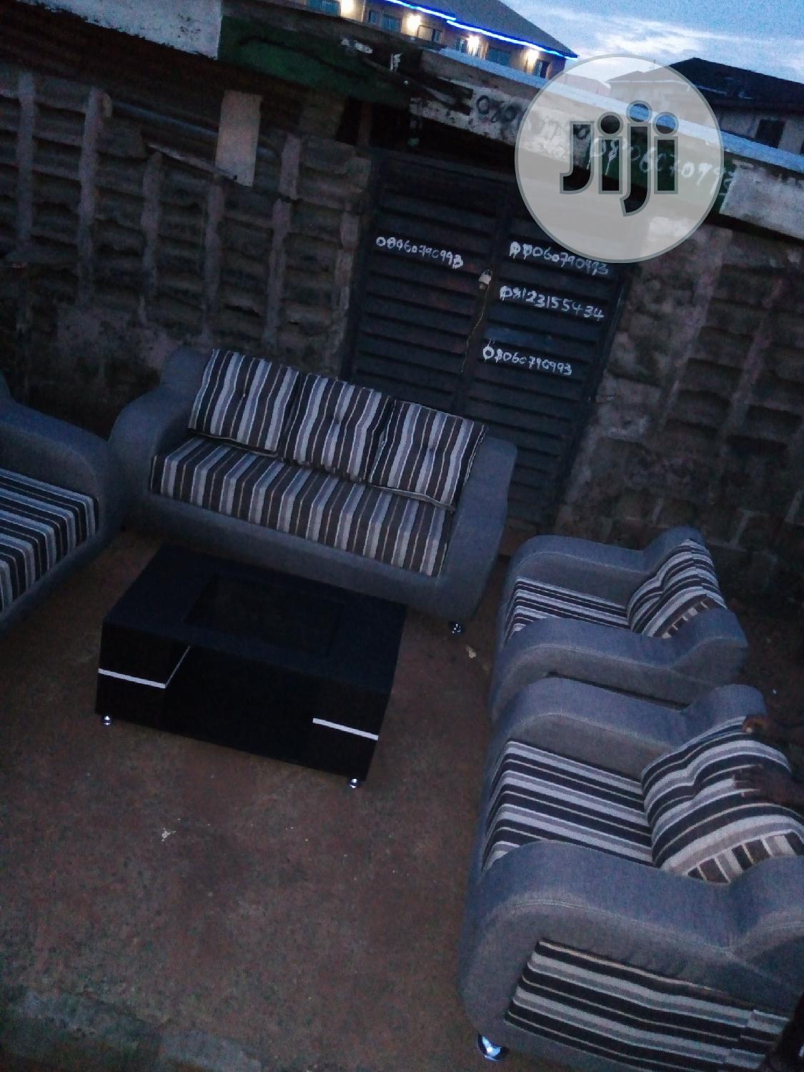 Archive: Set of Fabric Sofa With Center Table