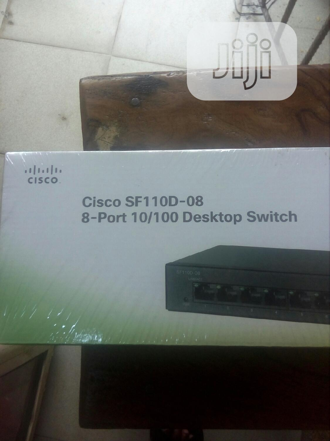 Cisco Sf 110d-08. 8port 10/100 Desktop Switch | Networking Products for sale in Ikeja, Lagos State, Nigeria
