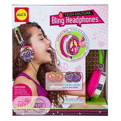 Toys Girl's Tech Couture Bling Headphones