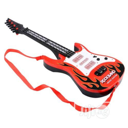 Toy Kart Red & Yellow Guitar Toy