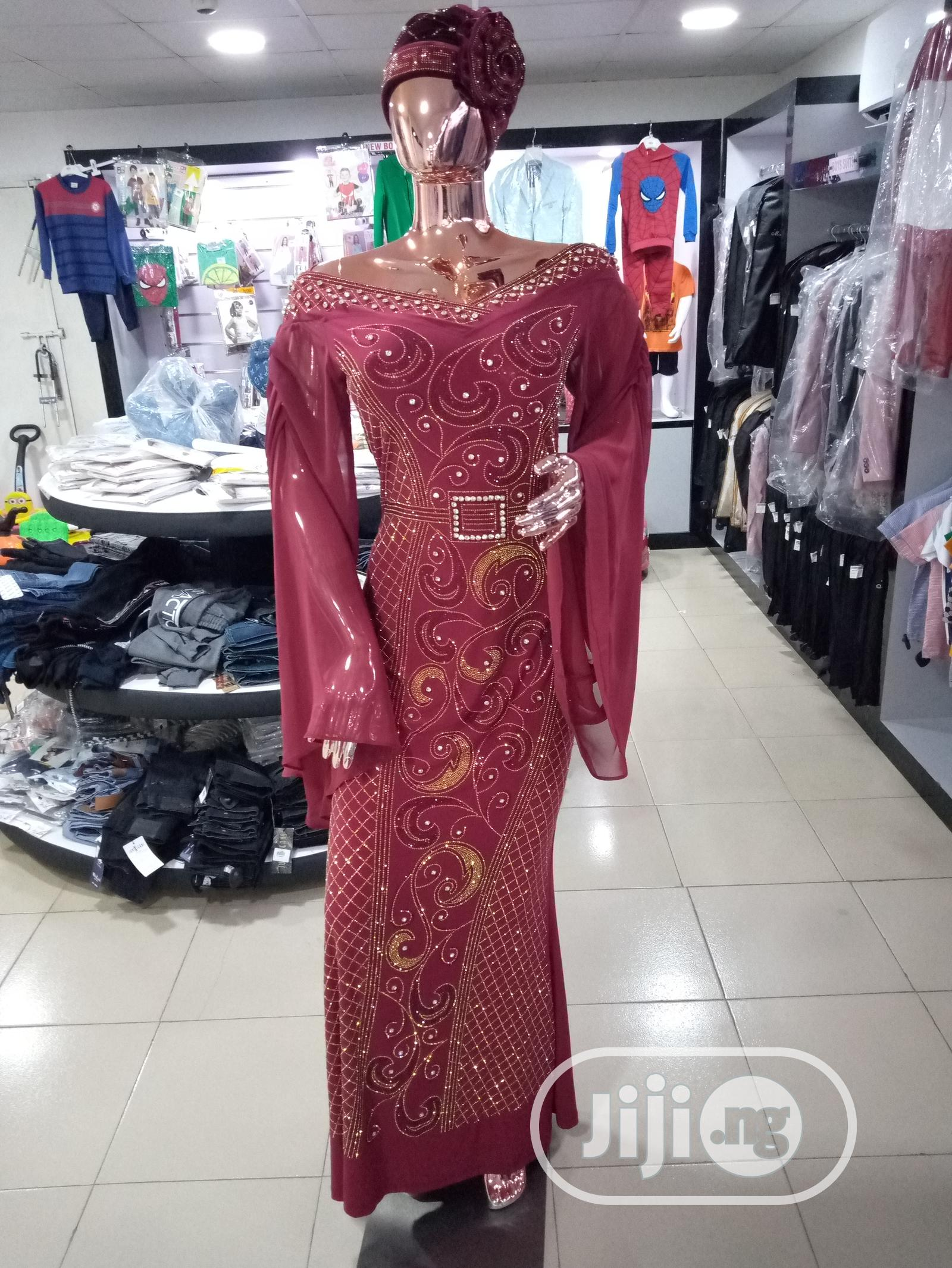 Top Quality and Elegant Ladies Long Stylish Gown With Stone