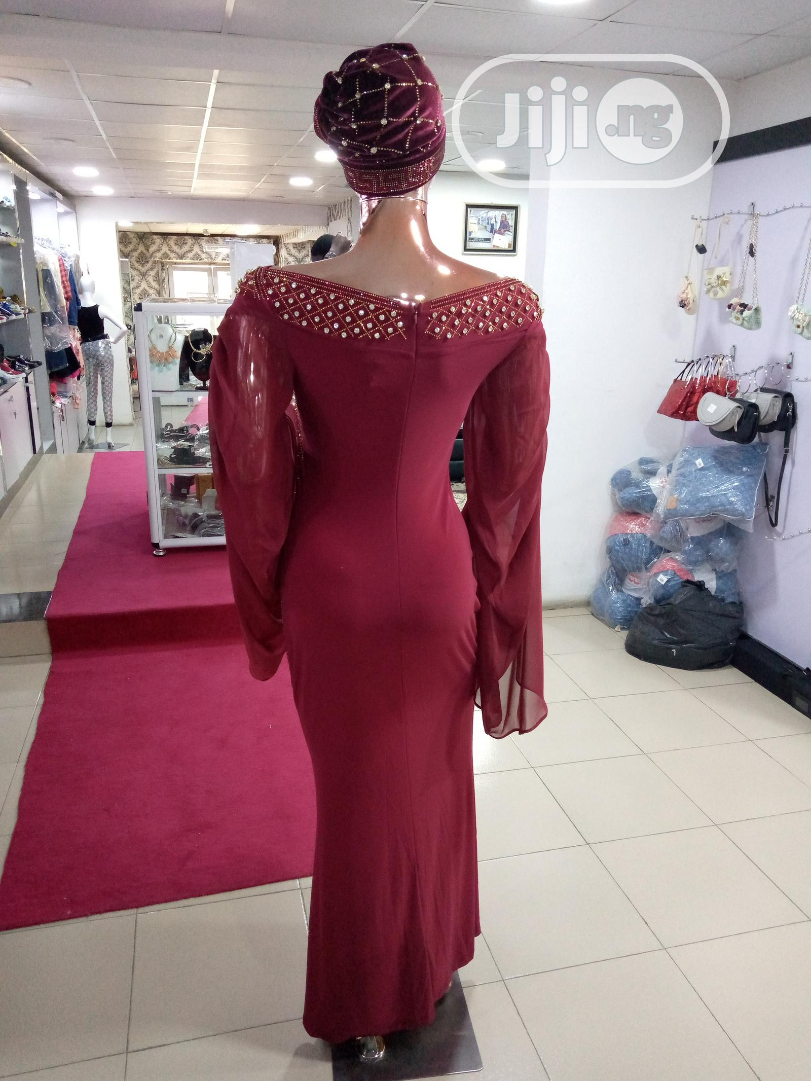 Top Quality and Elegant Ladies Long Stylish Gown With Stone | Clothing for sale in Ojodu, Lagos State, Nigeria