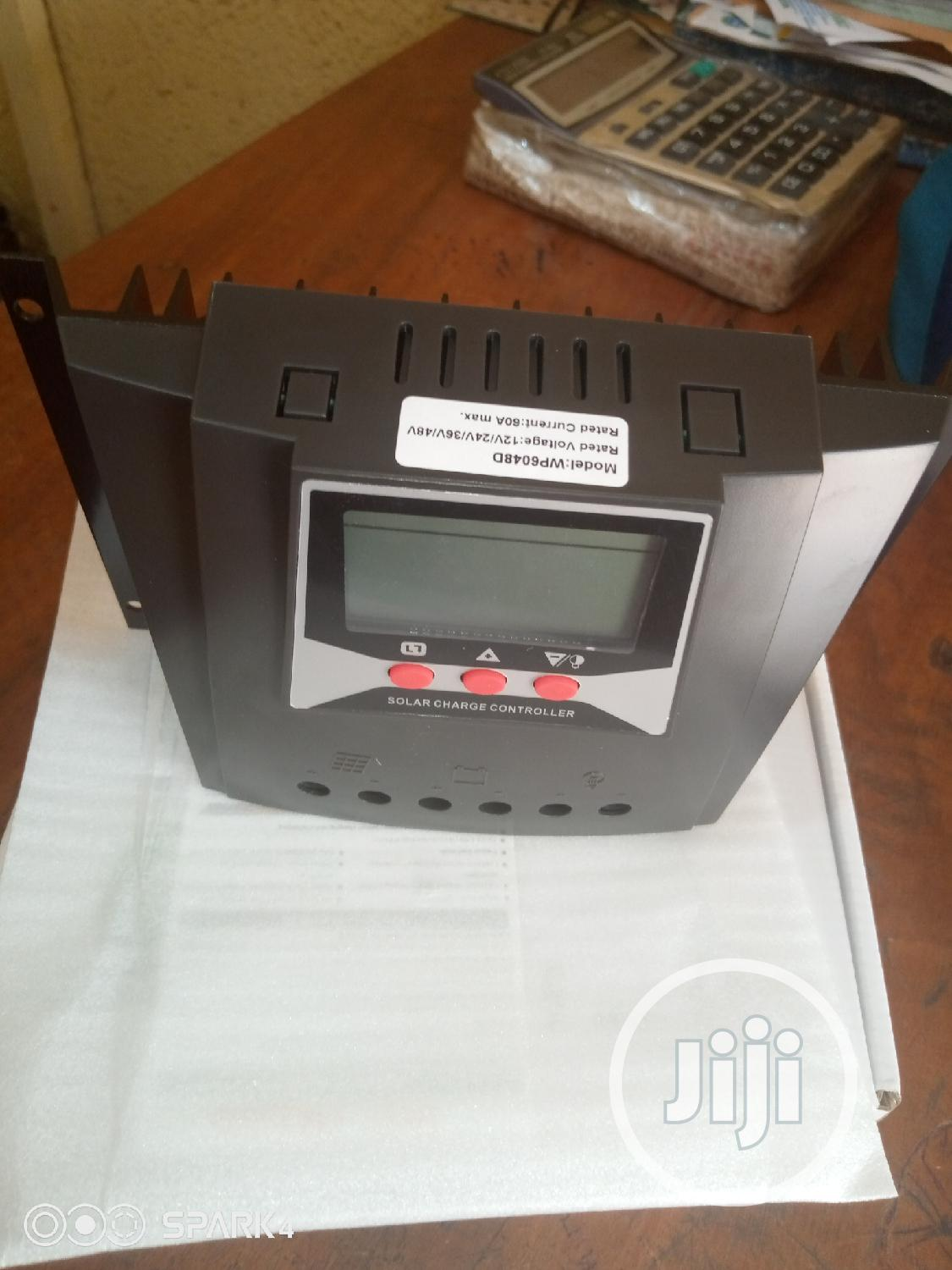 12V 24V 36V 48V 60A Solar Charge Controller | Solar Energy for sale in Ojo, Lagos State, Nigeria