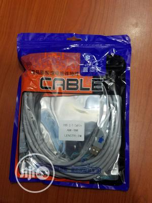 USB Printer Cable 2.0.Length. 5M | Accessories & Supplies for Electronics for sale in Lagos State, Ikeja