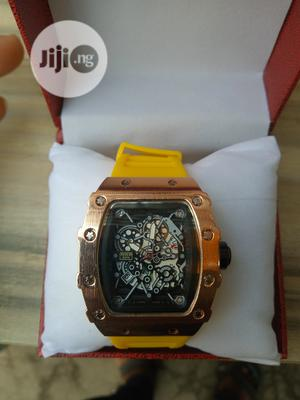 Richard Mille Men's Yellow Rubber Wristwatch | Watches for sale in Lagos State, Surulere