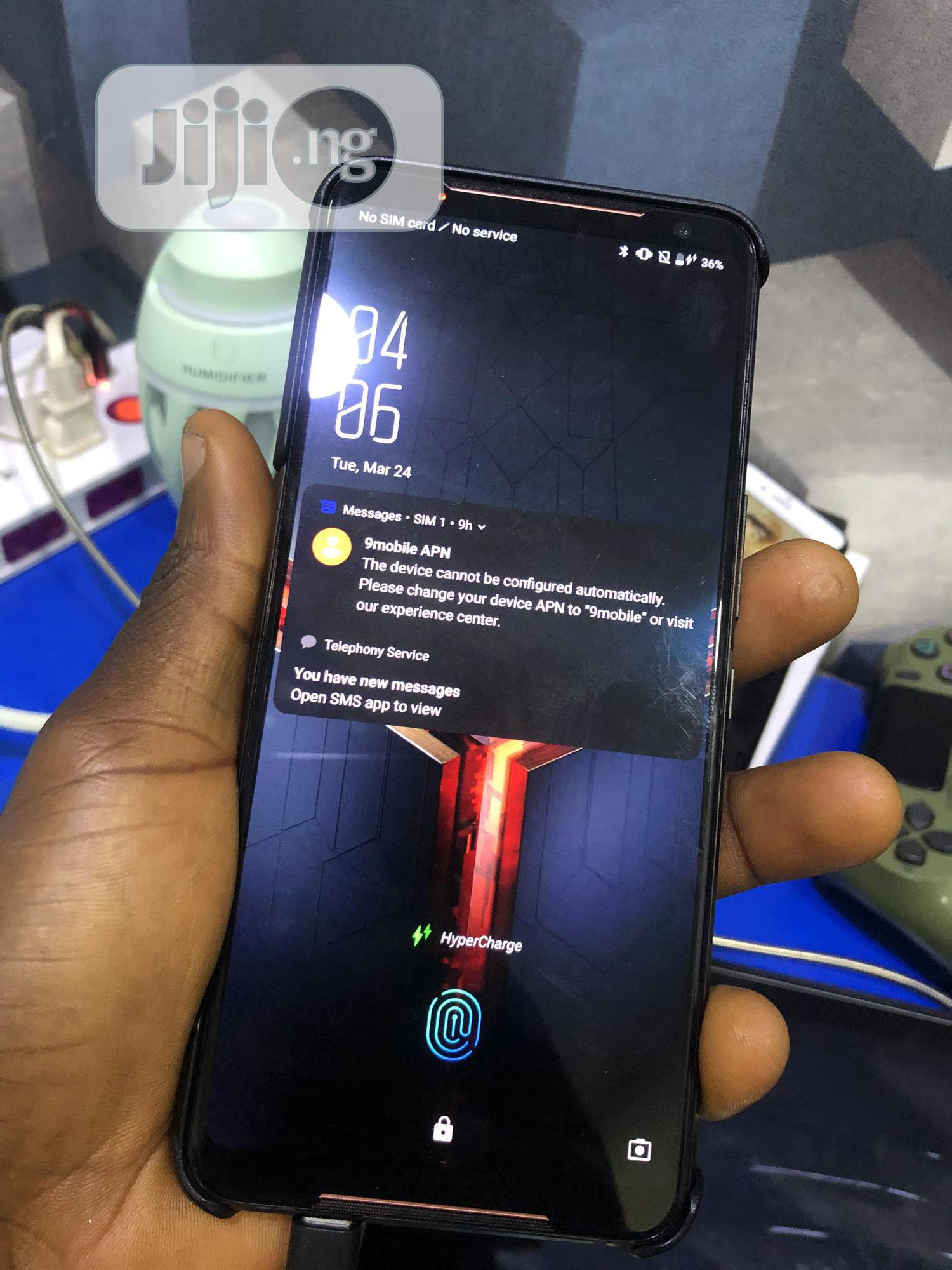 Asus ROG Phone 512 GB Black   Mobile Phones for sale in Ikeja, Lagos State, Nigeria