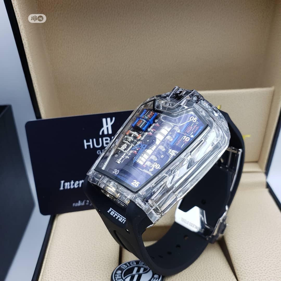 Hublot Ferrari Transparency Rubber Strap Watch