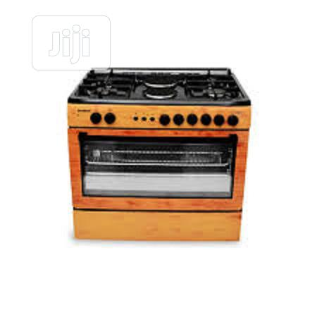 MAXI Gas Cooker 60*90 (4 + 2 ) WOOD