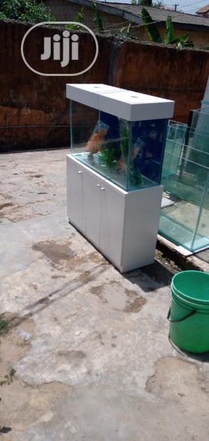 Aquarium With White Stand   Fish for sale in Lagos State, Ajah