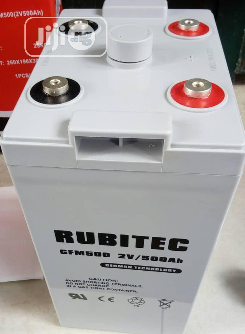 2V 500ah Rubitec Battery