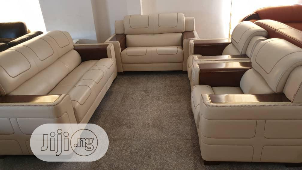 Imported Lether Sofa. | Furniture for sale in Ikeja, Lagos State, Nigeria