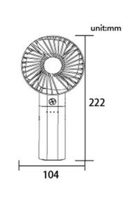 """Lontor Rechargeable Hand Fan With Detachable Power Bank 4"""" 