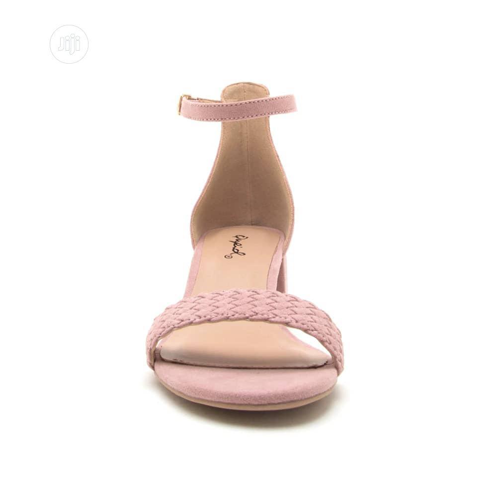 Fashion Ladies Desert Rose Female Low Heel Sandal Pink | Shoes for sale in Surulere, Lagos State, Nigeria
