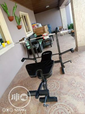 Adjutable Weight Bench With a 50kg Dumbbells Chrome | Sports Equipment for sale in Lagos State, Surulere