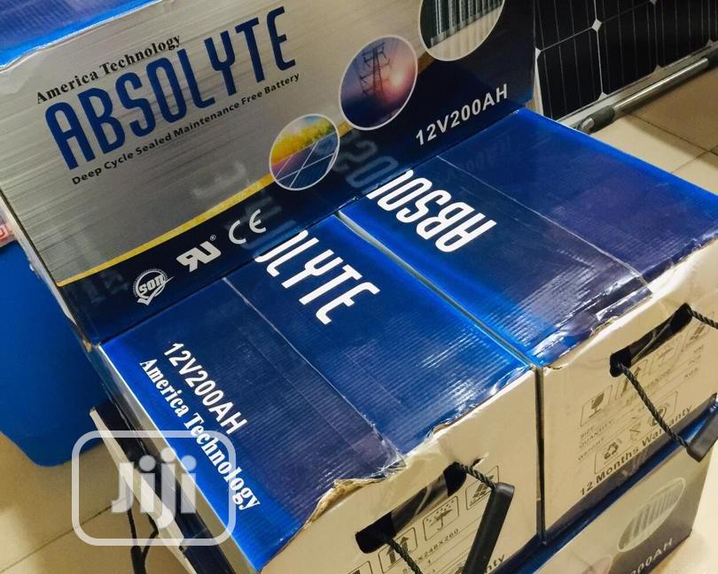 12V 200ah Absolyte Solar Battery