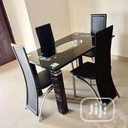 Quality Glass Dining Table by 4 Seater Chairs | Furniture for sale in Lagos State, Ikotun/Igando