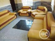 A Set Of Sofas With Guaranteed Leather Material | Furniture for sale in Enugu State, Enugu