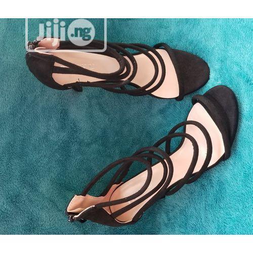 Archive: Female Strappy Fashion Ladies High Heels Shoe - Black