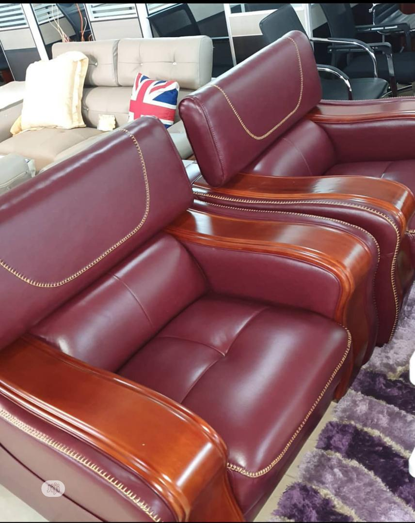 Imported Leather Sofa | Furniture for sale in Ikeja, Lagos State, Nigeria