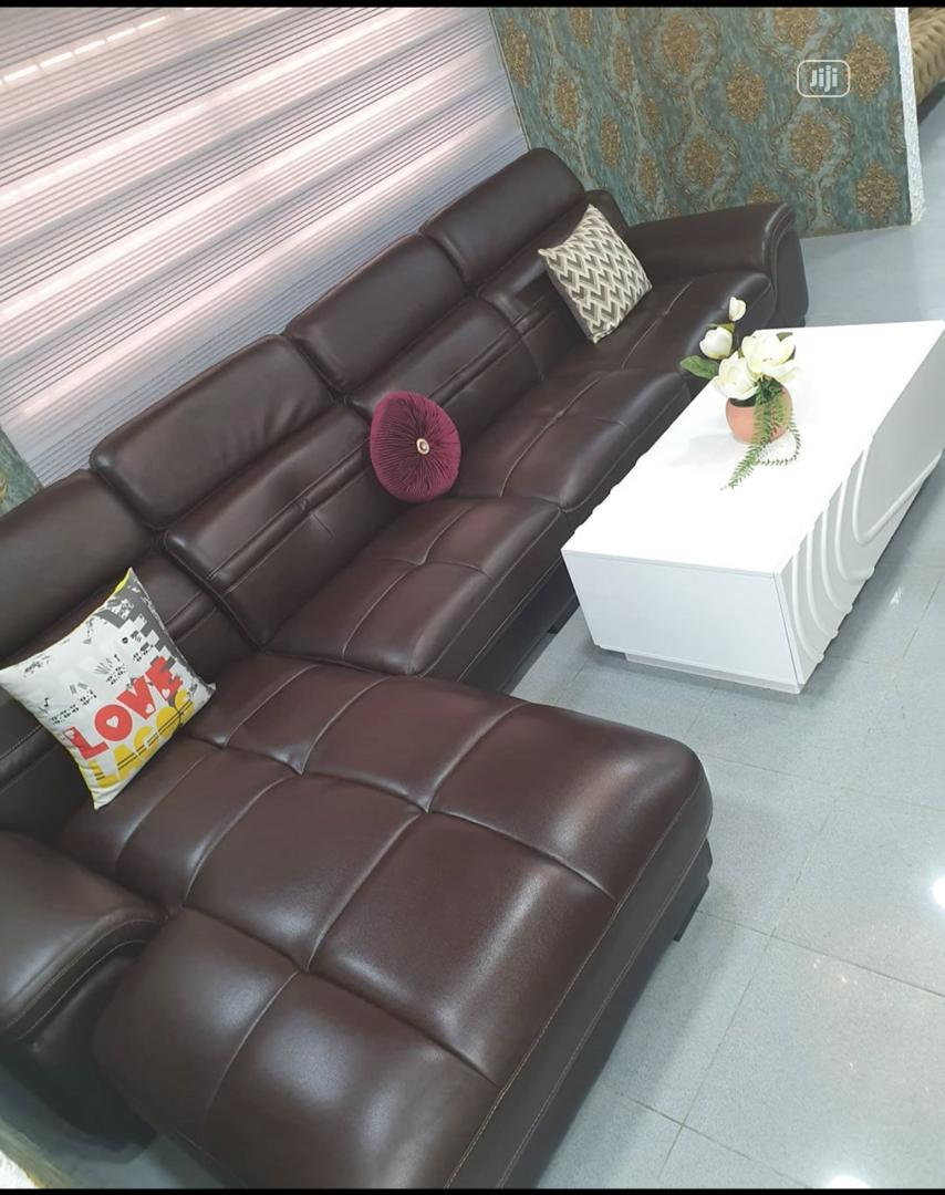 Imported Adjustable Head Rest L Shape Leather Sofa | Furniture for sale in Ikeja, Lagos State, Nigeria