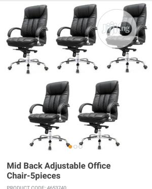 Brand New Imported Executive Leather Office Chair's With Double Contro   Furniture for sale in Lagos State, Yaba