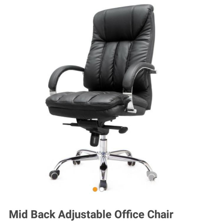 Brand New Imported Executive Leather Office Chair With Double Control