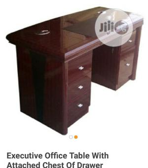 Brand New Imported 1.4mtrs Executive Office Table With Side Drawers.   Furniture for sale in Lagos State, Yaba