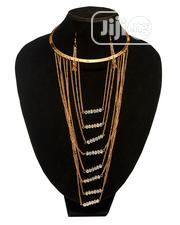 Chain Necklace and Earring Set - Gold/Crystal | Jewelry for sale in Lagos State, Amuwo-Odofin