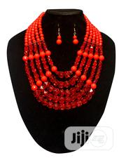 5-Step Combo Necklace and Earring Set - Crystal Red | Jewelry for sale in Lagos State, Amuwo-Odofin