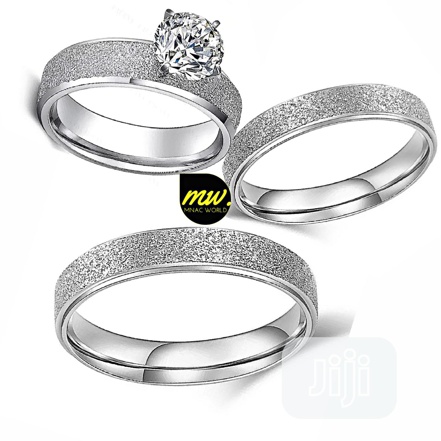 Archive: Stainless Steel Lasting 3pcs Wedding Rings