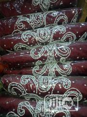 Wine Beautifully Stoned Fabric   Clothing for sale in Lagos State, Ojo