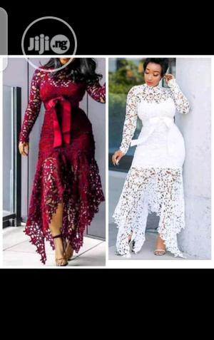 Lace Longsleeve Dinner Dress   Clothing for sale in Lagos State, Ikeja