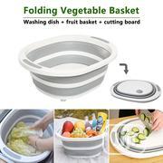 2in1 Foldable Fruit Vegetable Washing Basket Multifunctional Cut Board | Kitchen & Dining for sale in Lagos State, Lagos Island