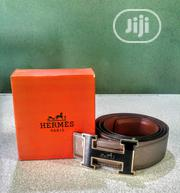 Hermes Silver Leather Belt (Inscribed Strap) | Clothing Accessories for sale in Lagos State, Surulere