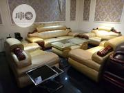 Complete Set of Sofas With a Glass Center Table | Furniture for sale in Enugu State, Enugu