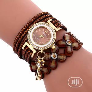Brand Luxury Gold Crystal Rhinestone Bracelet Watch Women   Watches for sale in Ogun State, Ado-Odo/Ota