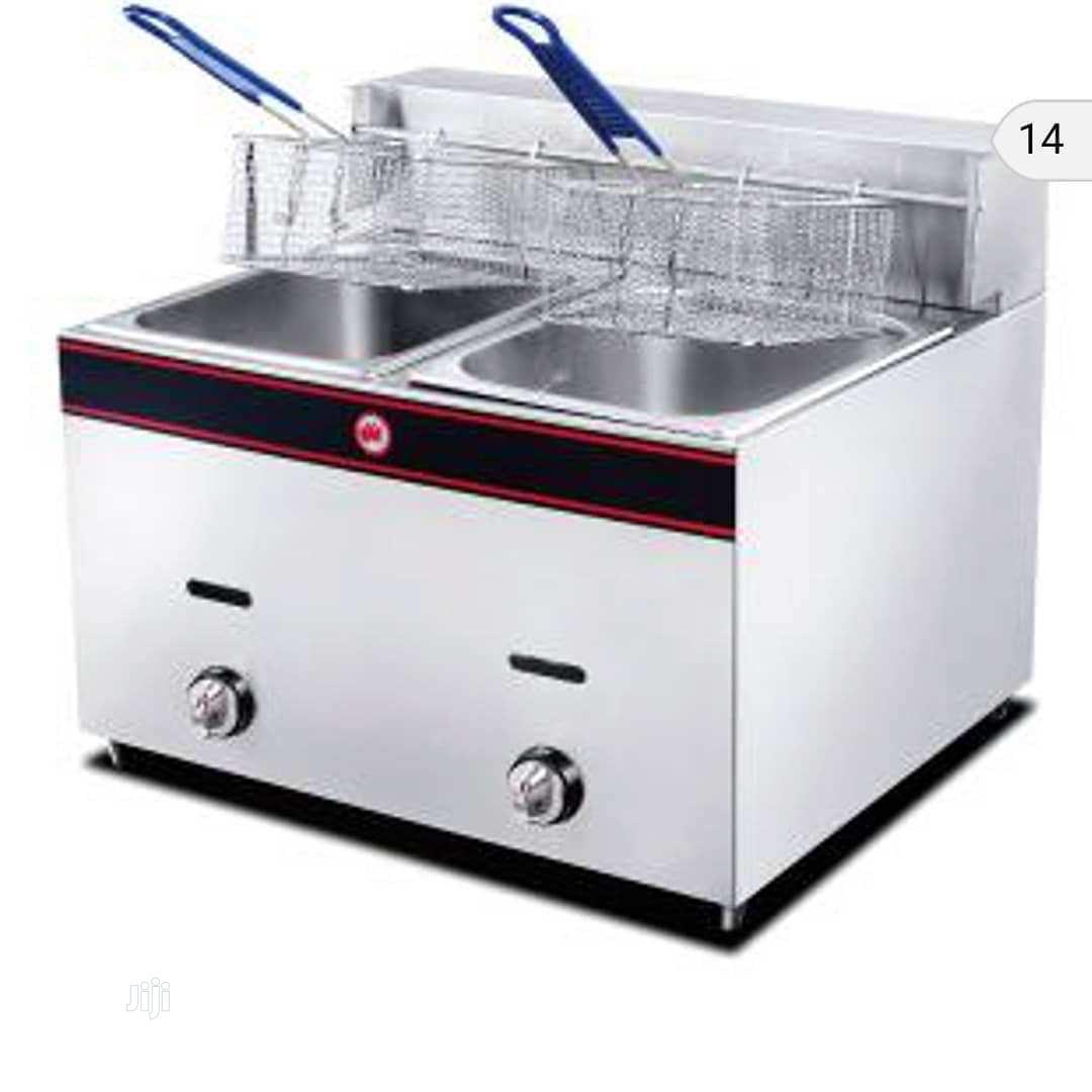 Deep Fryer Double Basket 10x10 Litters Gas