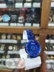 Dior Blue Stainless Steel Strap Diva Wristwatch | Watches for sale in Lagos State, Ikeja