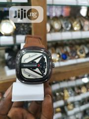 Ohsen Sevenfriday Brown Leather Strap Men's Wristwatch | Watches for sale in Lagos State, Ikeja