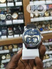 Montblanc Black Leather Strap For Men | Watches for sale in Lagos State, Ikeja