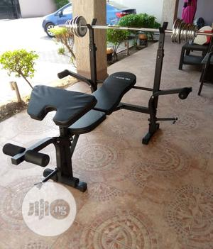 Standard Weight Bench With 50KG Dumbbells and Barbell Sets | Sports Equipment for sale in Lagos State, Victoria Island