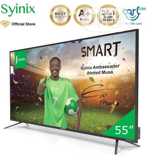 "Syinix 55"" Inch Android 4K UHD Smart - T710U Series- Black|"