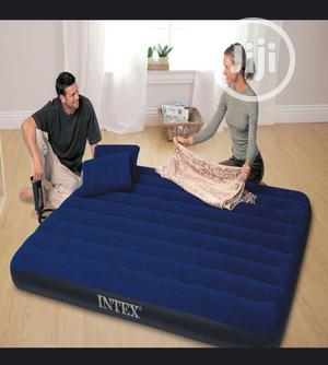 The New And Flocked Stripe Inflatable Mat Double Person Air Bed | Furniture for sale in Lagos State, Yaba