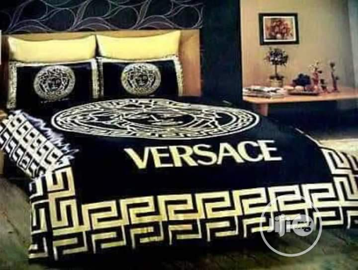 Quality Versace Duvet, Bedsheet With 4 Pillow Cases - 7*7