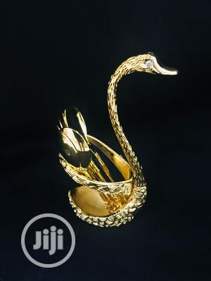 Swan Mini Desert Spoon Holder Gold | Kitchen & Dining for sale in Lagos State, Ikeja