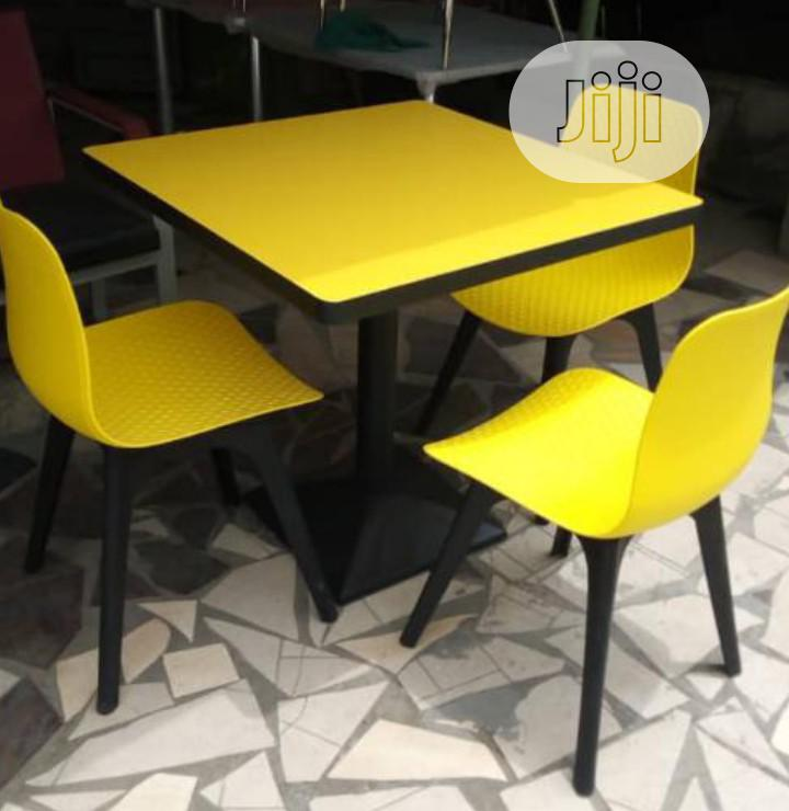 Four Seater Restaurant Table and Chair Brand New Imported
