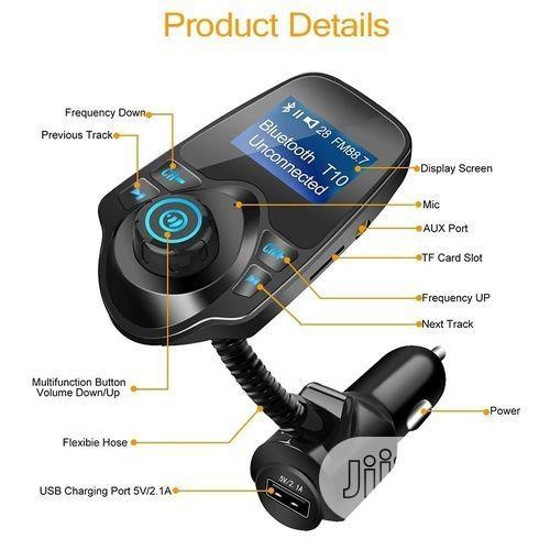 Car MP3 Audio Player, Bluetooth, FM Transmitter Wireless FM Modulator | Vehicle Parts & Accessories for sale in Ojo, Lagos State, Nigeria