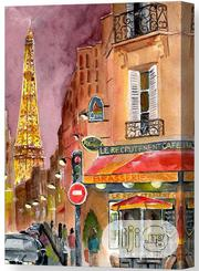 Evening In Paris Canvas Print | Arts & Crafts for sale in Lagos State, Surulere