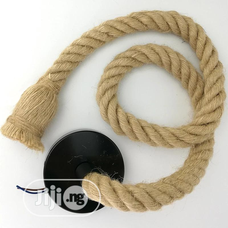 Vintage Hemp Rope Pendant Light | Home Accessories for sale in Lagos Island (Eko), Lagos State, Nigeria